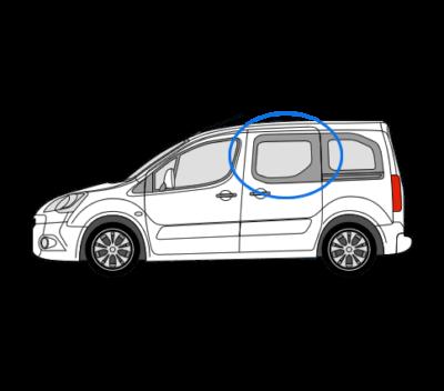 Citroen Berlingo N/S/F Opening Window in Privacy Tint