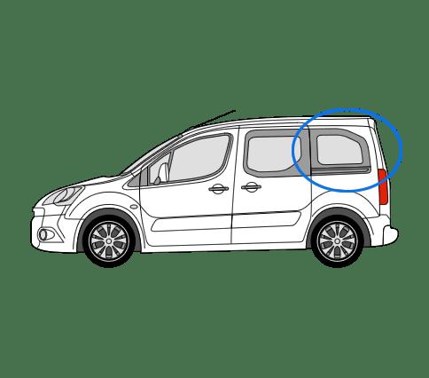 Citroen Berlingo N/S/R Fixed Window in Privacy Tint