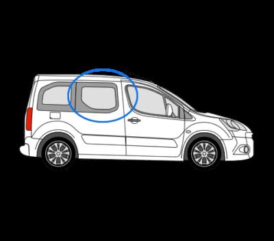 Citroen Berlingo O/S/F Opening Window in Privacy Tint