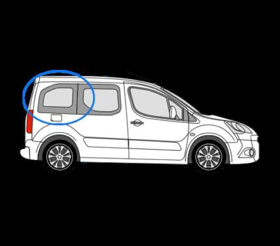 Citroen Berlingo O/S/R Fixed Window in Privacy Tint