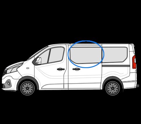 Vauxhall Vivaro X82 (2014 >) N/S/F Fixed Window in Privacy