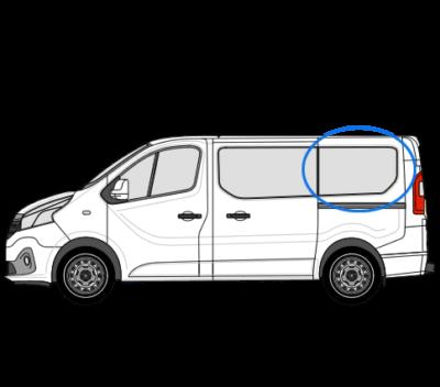 Nissan Primastar X82 (2014 >) N/S/R (Rear) Fixed Window in