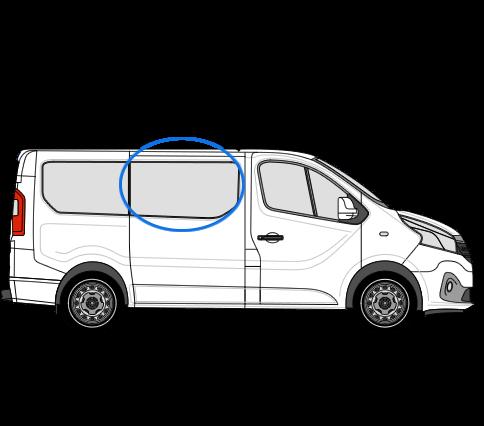 Vauxhall Vivaro X82 (2014 >) O/S/F Opening Window in