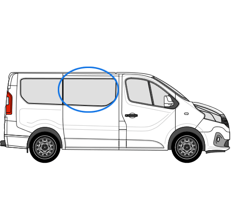 Renault Trafic X82 (2014 >) O/S/F Opening Window in