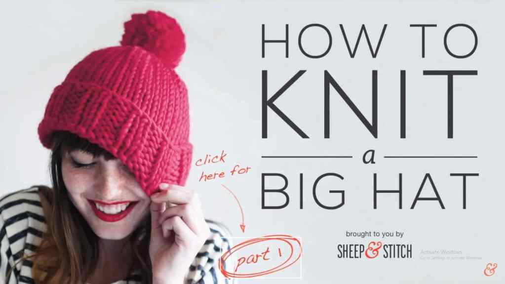 how to knit a big hat2