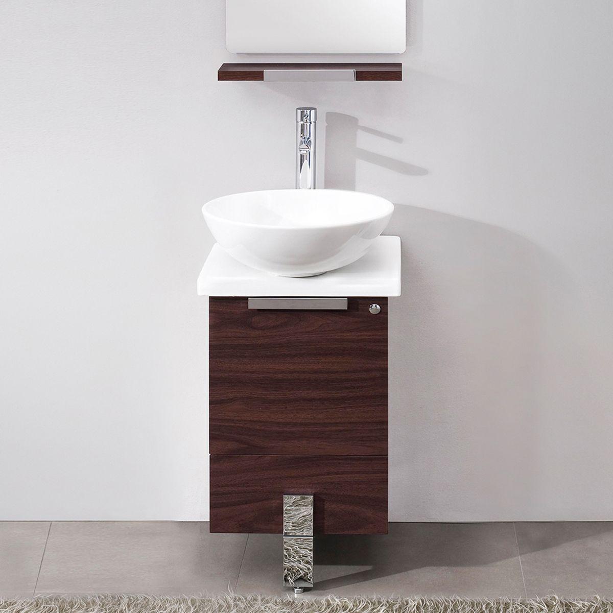 Narrow Bathroom Vanities with 818 Inches of Depth