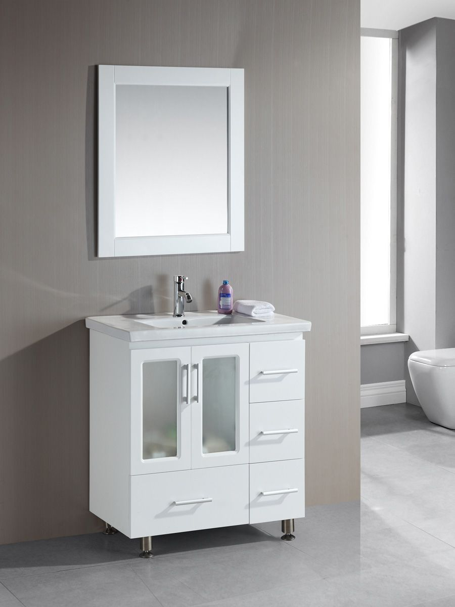 Narrow Bathroom Vanities with 818 Inches of Depth