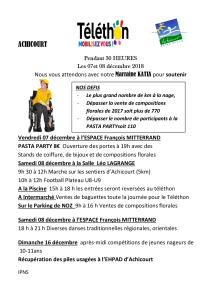 Téléthon 2018 à Achicourt