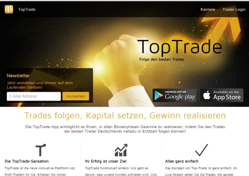 Social Trading mobil – TopTrade kooperiert mit comdirect
