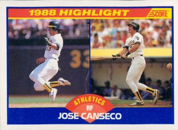 The Baseball Cards Of Jose Canseco The Sports Daily