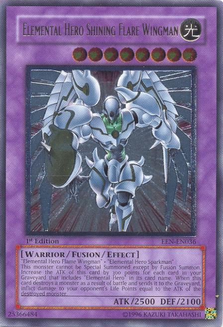 EEN-EN036U Elemental Hero Shining Flare Wingman – ULTIMATE ...Elemental Hero Shining Flare Wingman Deck