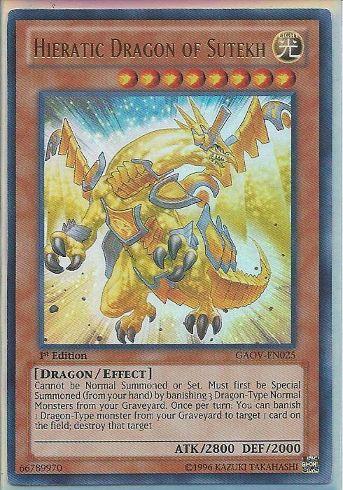 1st Edition Near Mint Hieratic Dragon of Sutekh GAOV-EN025 - Ultra Rare