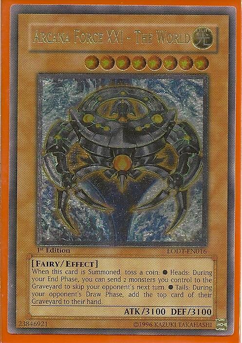 LODT-EN016U Arcana Force XXI – The World ULTIMATE RARE