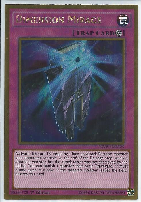 MVP1-ENG21 Dimension Reflector Gold Rare 1st Edition Mint YuGiOh Card Yu-Gi-Oh!
