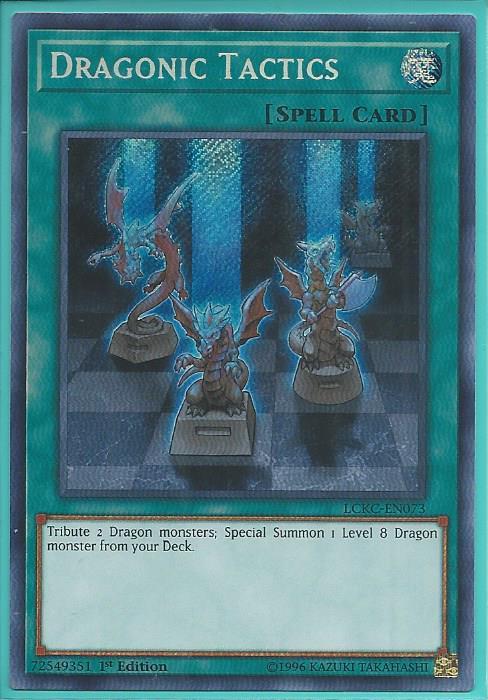 Unlimited Ed. YuGioh Dragonic Tactics NM LCKC-EN073 Secret Rare Card