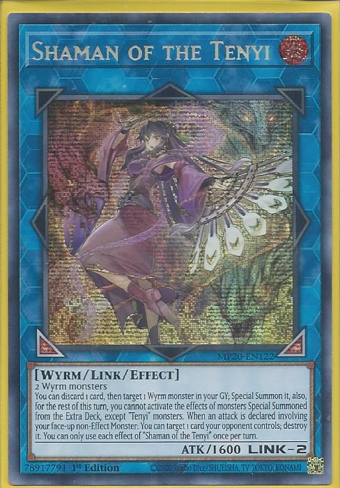 Shaman of the Tenyi MP20-EN122 Secret Rare Yu-Gi-Oh Card 1st Edition New