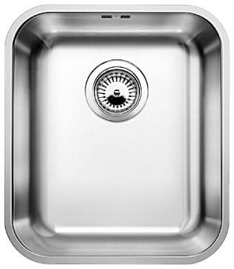 blanco supra 340 u 1 bowl stainless steel kitchen sink brushed finish bl450762