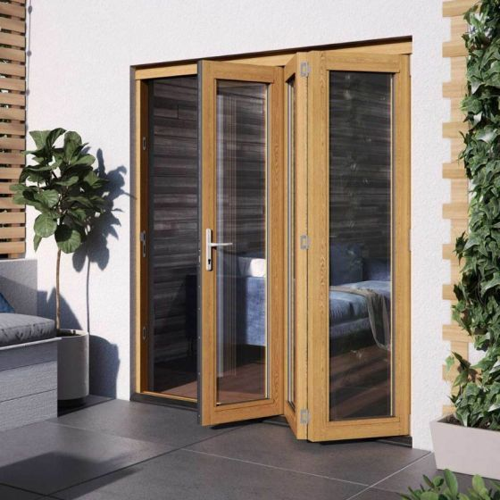 jeld wen kinsley golden oak folding patio doorset 2094 x 1794 x 54mm ksyosf18