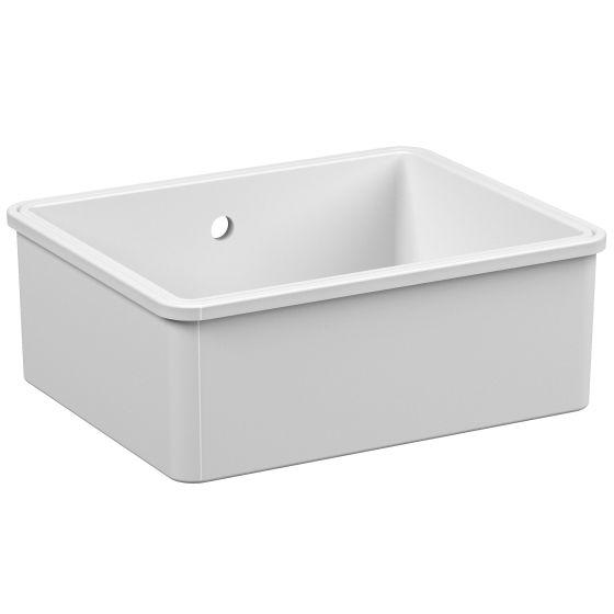 reginox mataro 1 bowl ceramic kitchen sink white