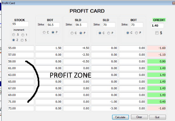 Options Master Chartist Profit Card