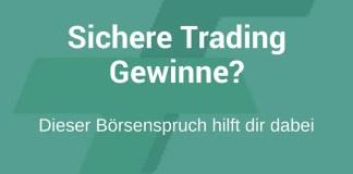 Trading Gewinne