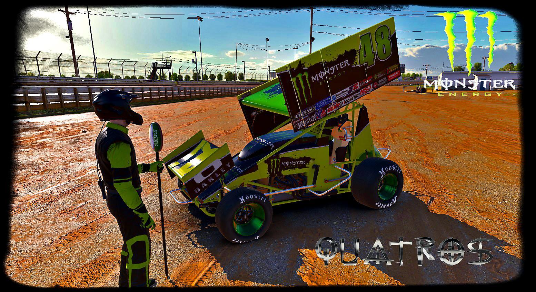 Monster Energy Dirt Sprint Car Custom Paint Scheme By Jose