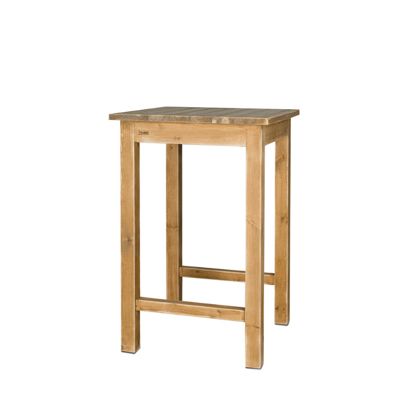 table carree mange debout repose pieds bois massif