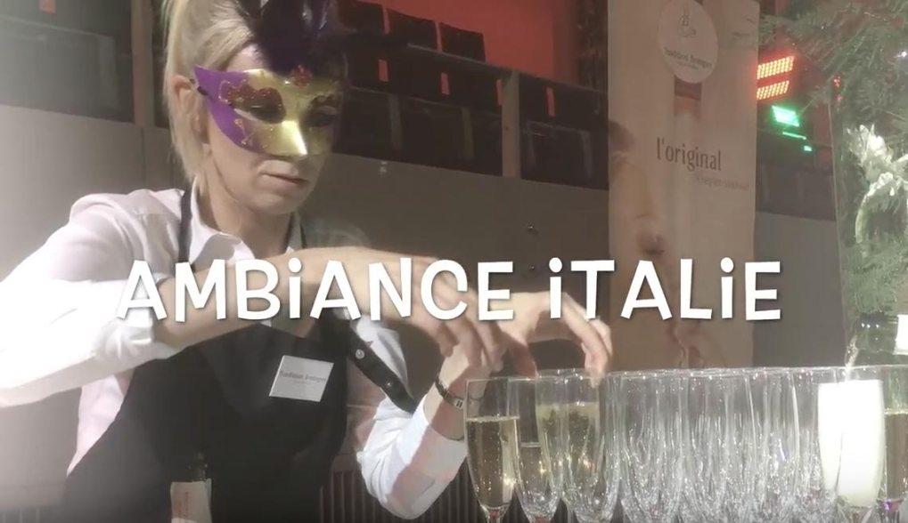 réception sur le thème de l'Italie
