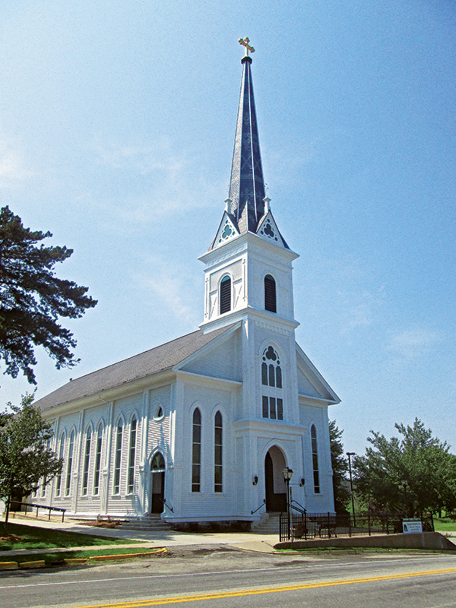 Steeple Restoration at Two Historic Churches  Traditional