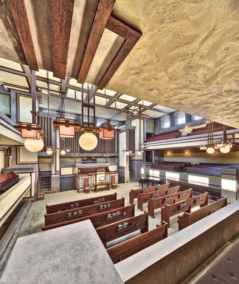 Restoring Frank Lloyd Wrights Unity Temple  Traditional
