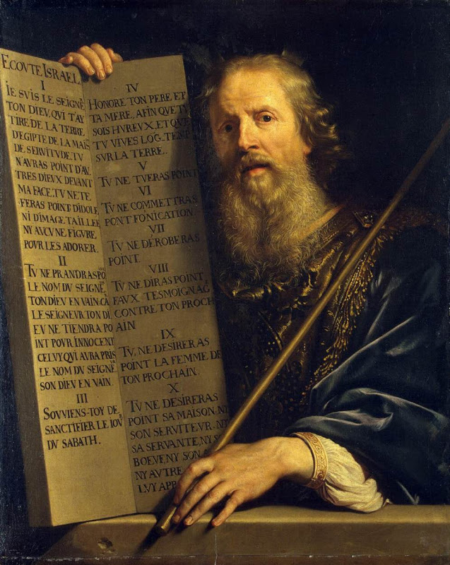 Moses_With the Ten Commandments_CHAMPAIGNE, Philippe de