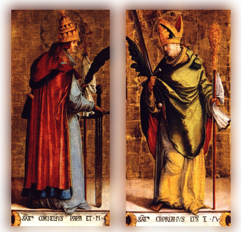 Image result for free pictures of Pope St. Cornelius and St. Cyprian