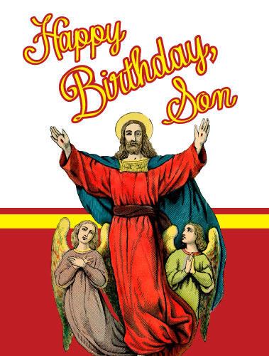 Happy Birthday Son Greeting Card > Greeting Cards