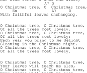 the words to oh christmas tree