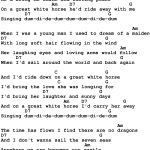 Country Music Great White Horse Buck Owens And Susan Raye Lyrics And Chords