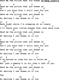 Country Music:Send Me The Pillow That You Dream On-Hank ...