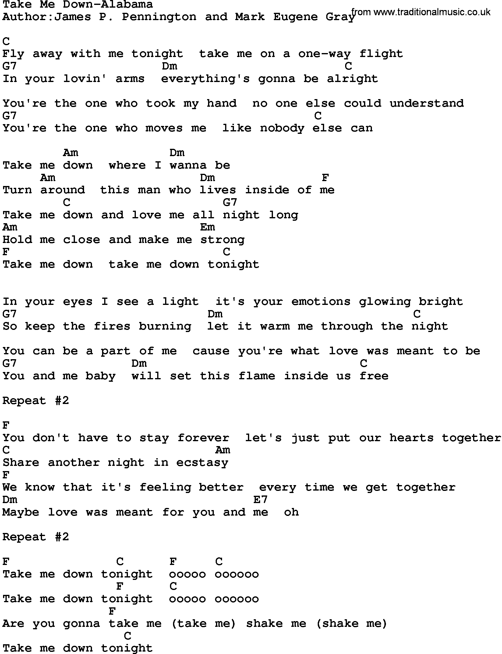 Take It Down Lyrics