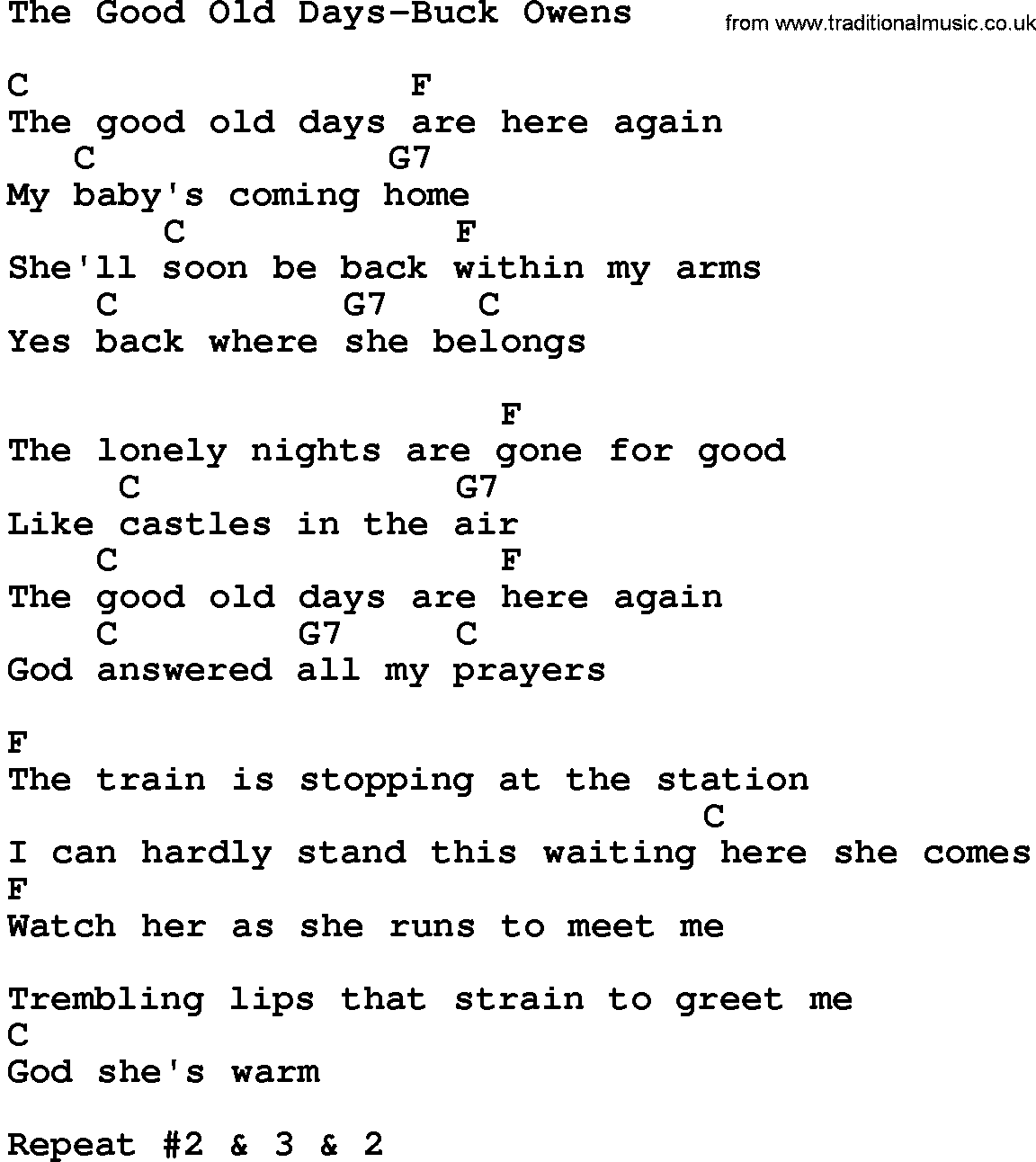 Good Ole Days Words