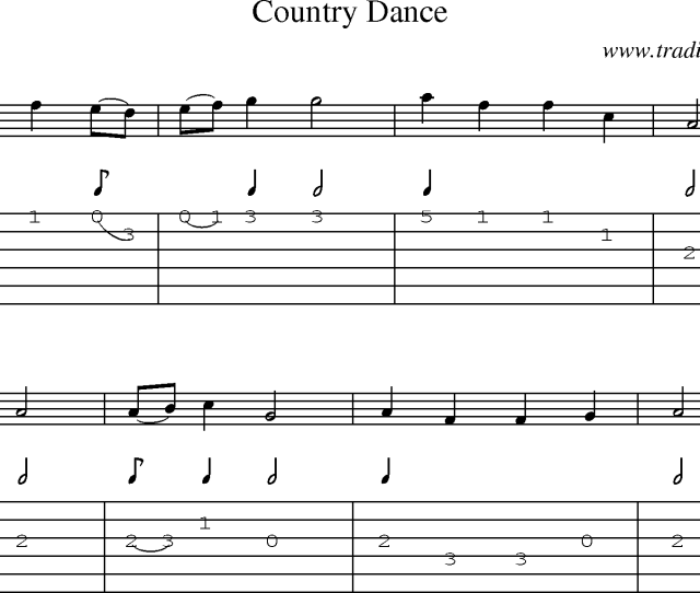 Sheet Music And Guitar Tabs For Country Dance