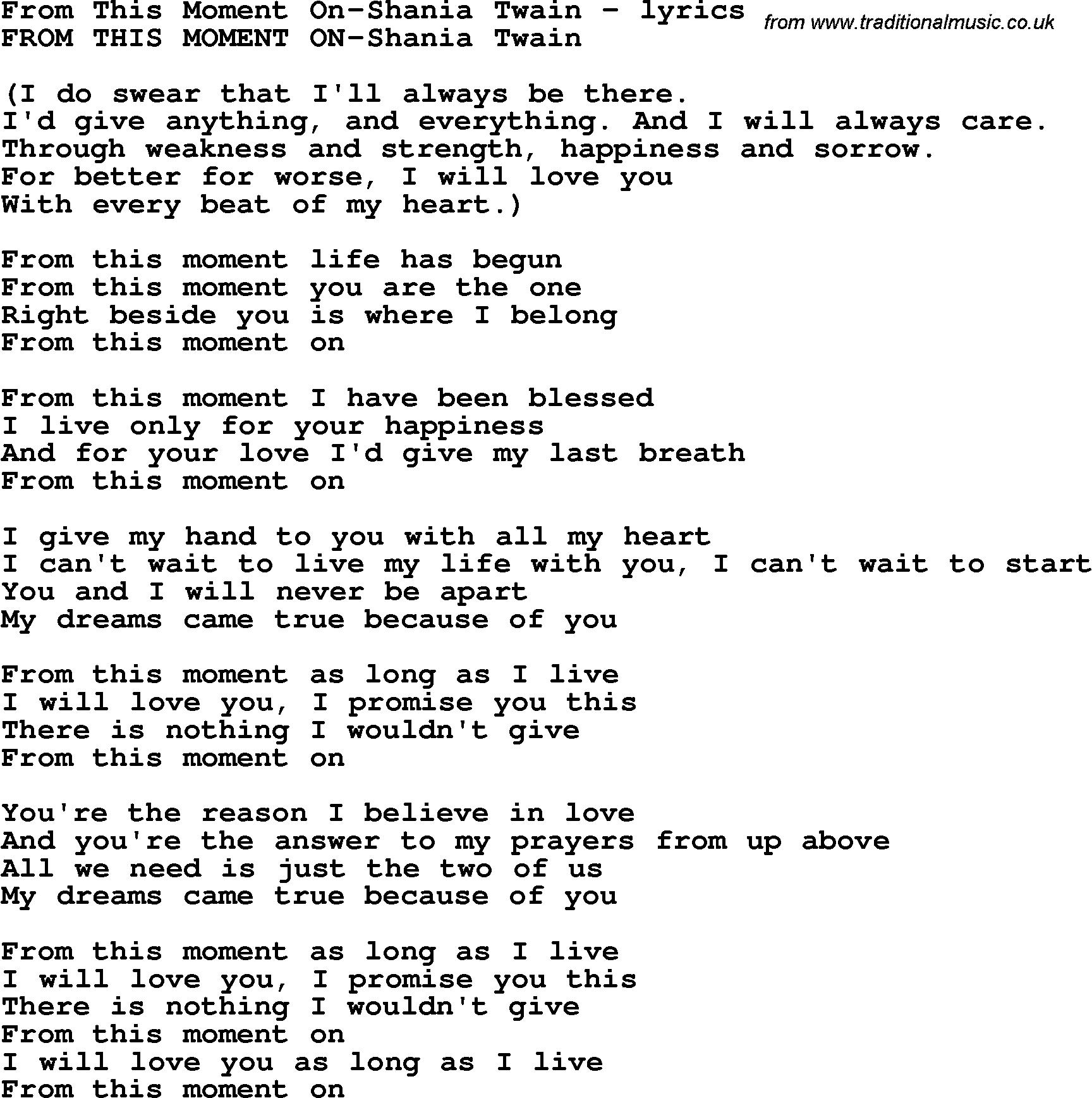 moments in love lyrics