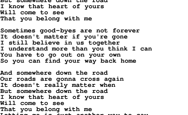Somewhere Down The Road Barry Manilow Lyrics - Dubai Burj