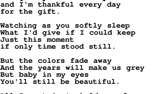Love Song Lyrics For The Gift Jim Brickman