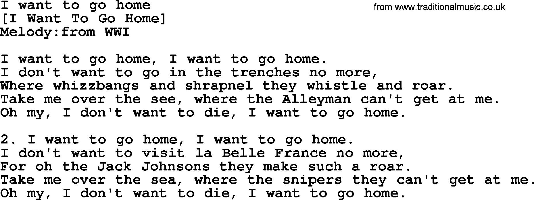 old english song lyrics