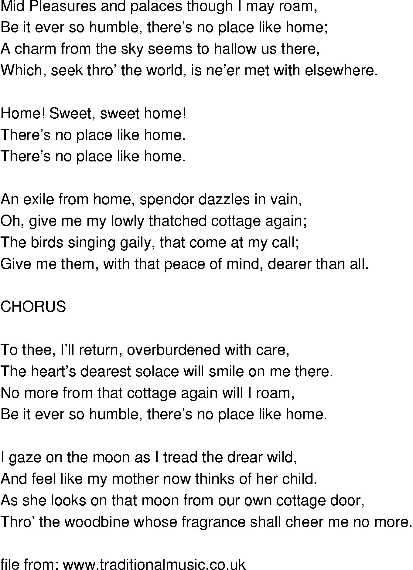 Dec 25, 2020· sweet home lyrics: Old Time Song Lyrics Home Sweet Home