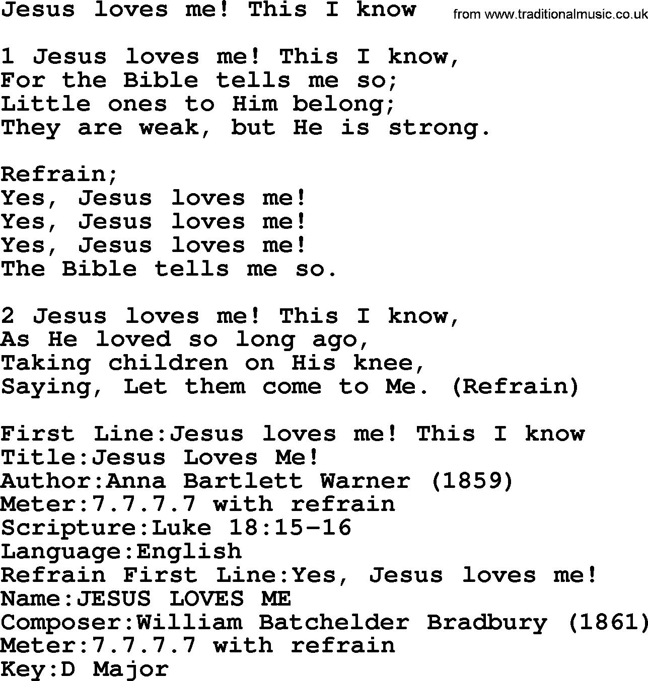 Yes Jesus Loves Me Whitney Houston
