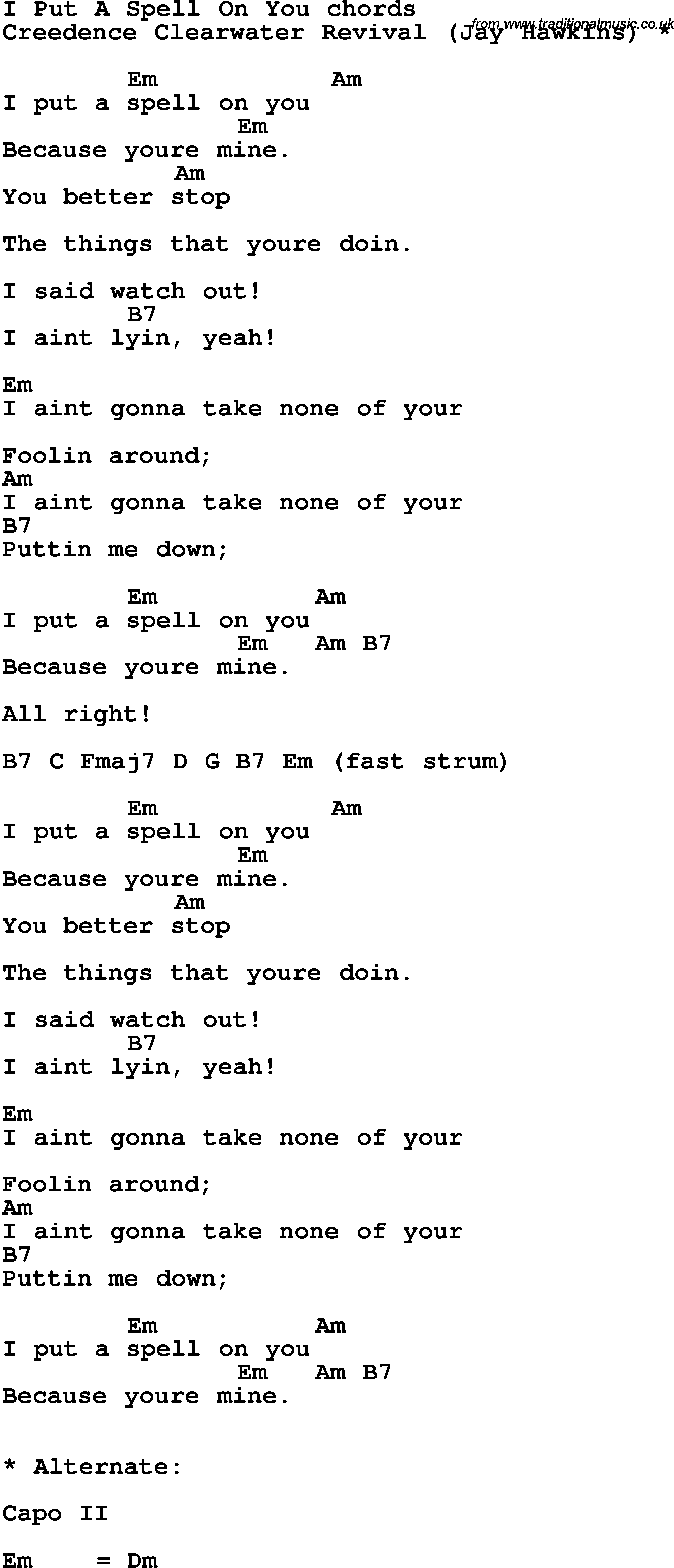 song lyrics with guitar