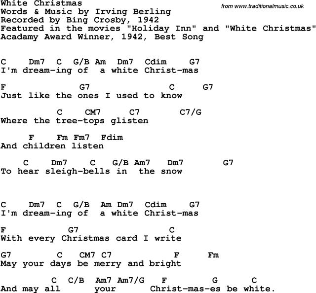 White Christmas Bing Crosby 1942