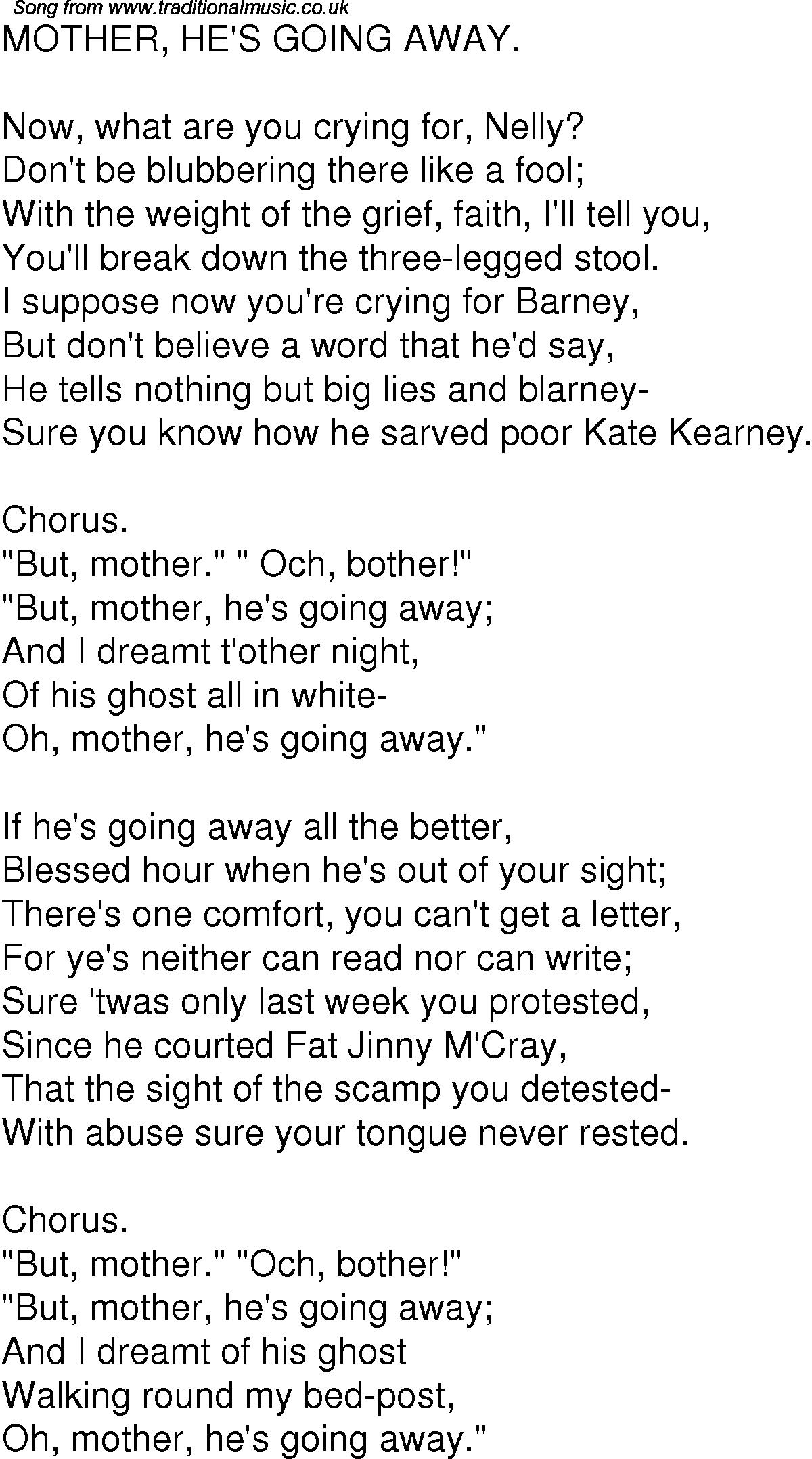 old time song lyrics