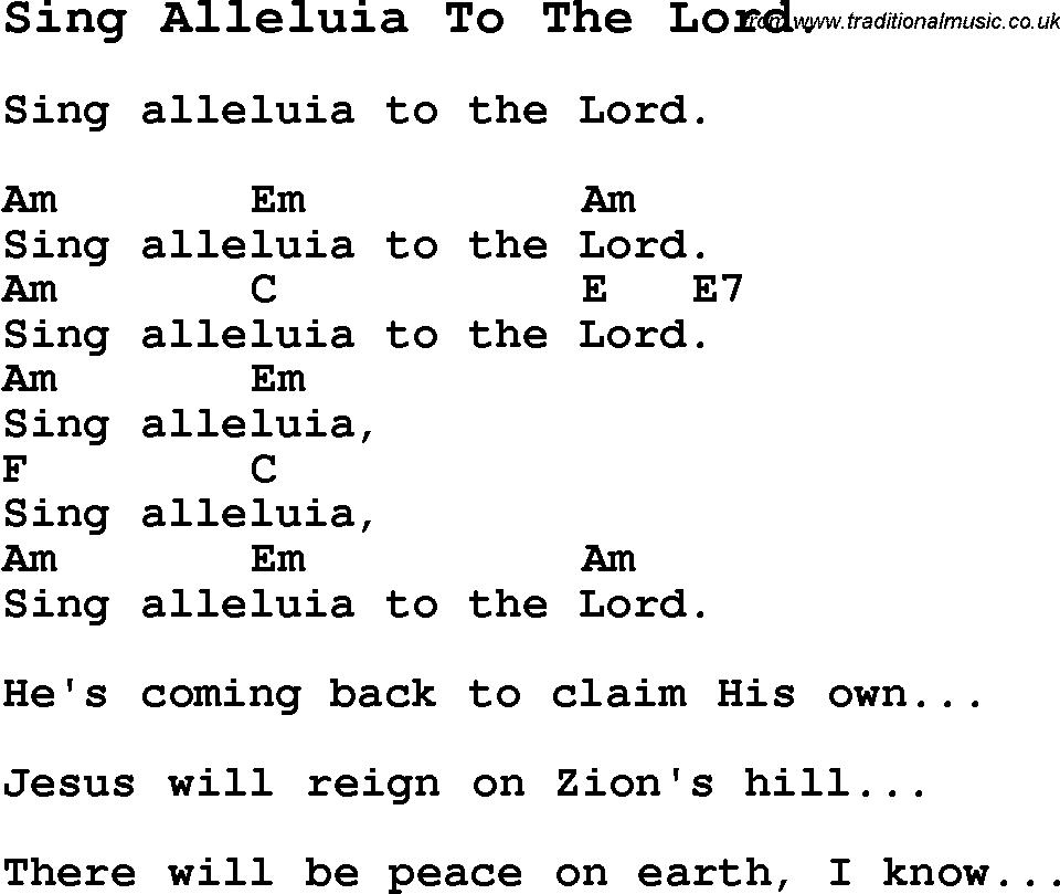 sing hallelujah to the lord sheet music - Bimo.unpasoadelante.co