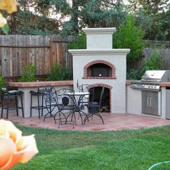Outdoors Kitchen Small Storage And Eating Entertaining Area